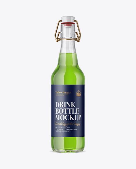 Download Clear Glass Beugel Drink Bottle Mockup Object Mockups