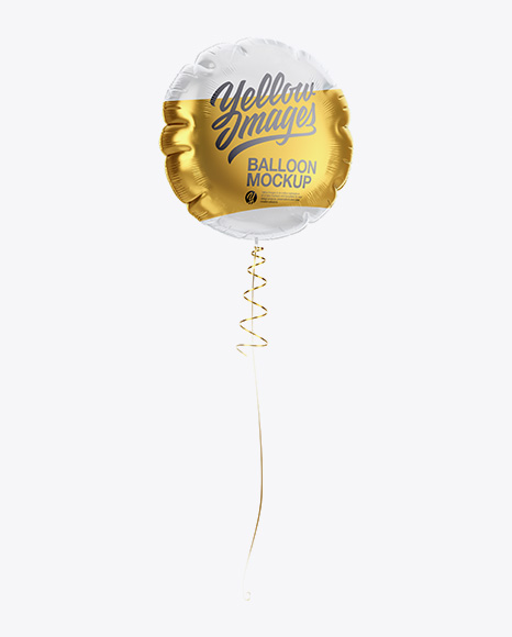 Transparent Round Foil Balloon Mockup