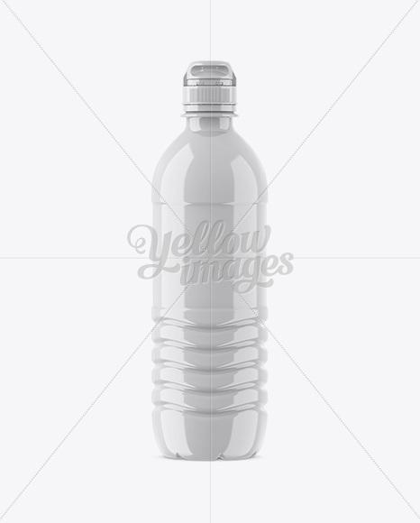 Glossy PET Bottle W/ Sport Cap