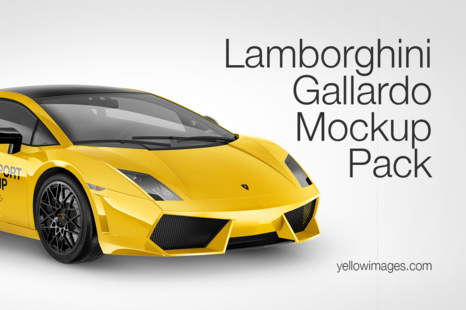 Download Lamborghini Gallardo Mockup Pack In Handpicked Sets Of Vehicles On Yellow Images Creative Store PSD Mockup Templates