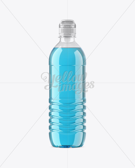 Download Metallic Pet Bottle W Sport Cap In Bottle Mockups On Yellow Images Object Mockups PSD Mockup Templates