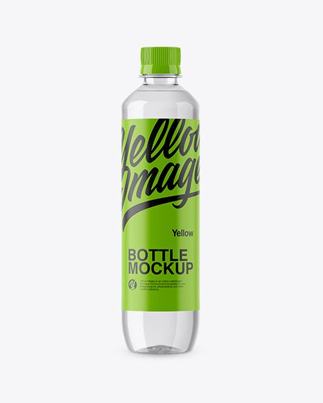 Download 500ml Clear PET Bottle Mockup Object Mockups