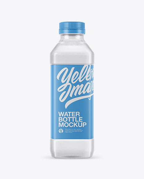 Download Clear PET Water Bottle Mockup Object Mockups