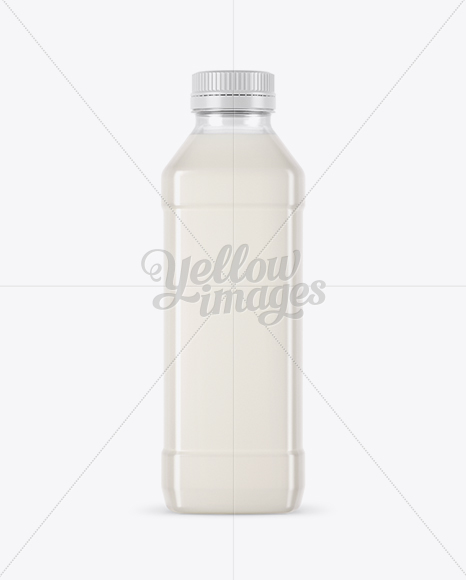 Clear PET Milk Bottle Mockup