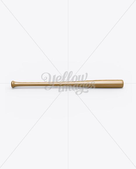 Wooden Baseball Bat Mockup
