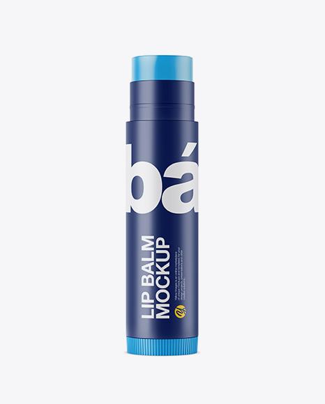 Download Matte Lip Balm Tube Mockup Object Mockups