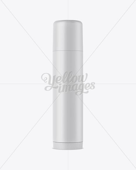 Matte Lip Balm Tube Mockup