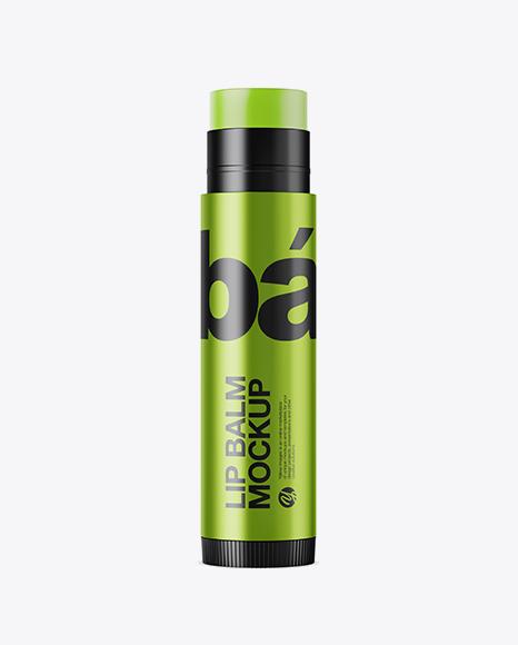 Metallic Lip Balm Tube Mockup - Download Mockup PSD Free