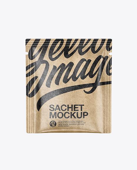 Download Free Kraft Paper Sachet Mockup PSD Template