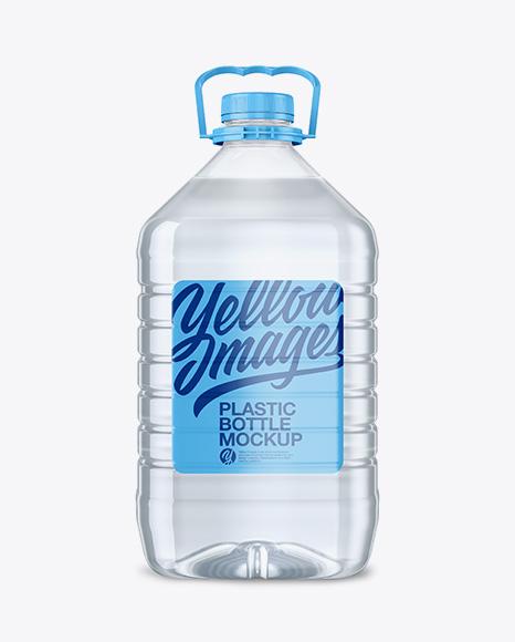 5L Clear PET Water Bottle Mockup