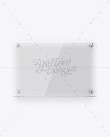 Vertical Glass Nameplate Mockup Front View In Object Mockups On