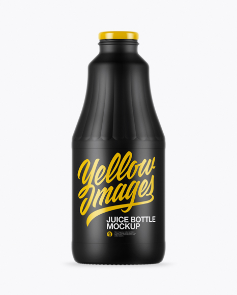 Matte Juice Bottle Mockup