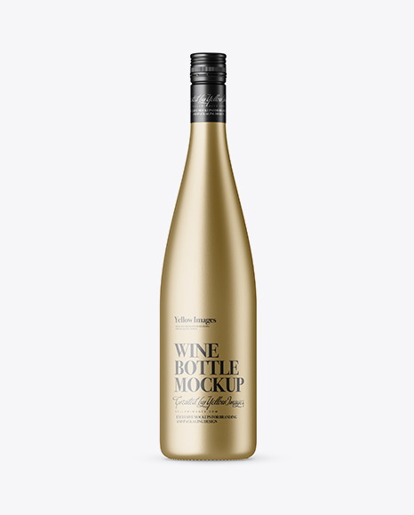 Download Metallic Wine Bottle Mockup Object Mockups