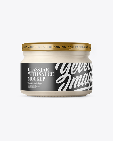 Download Glass Garlic Sauce Bottle Mockup PSD - Free PSD Mockup Templates