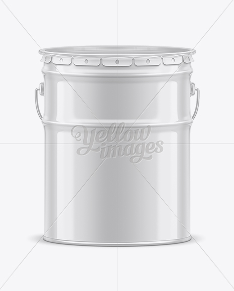 20L Tin Paint Bucket Mockup for Free