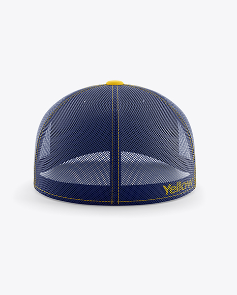 Trucker Cap Mockup - Back View
