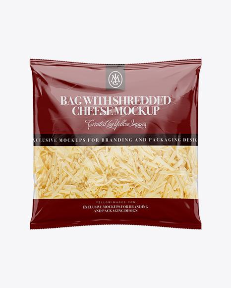 Plastic Bag W/ Shredded Cheese Mockup