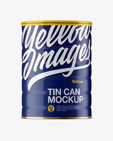 Download Glossy Tin Can Mockup Object Mockups