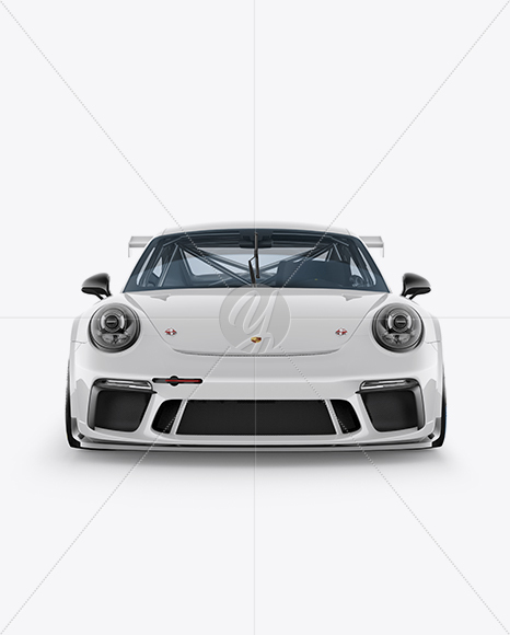 Porsche 911 GT3 Mockup , Front View in Vehicle Mockups on