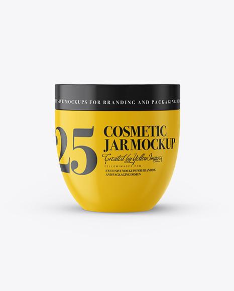 Download Free Glossy Cosmetic Jar Mockup PSD Template
