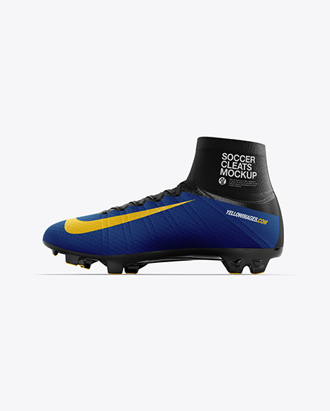 Cuffed Soccer Cleat mockup (Inside View)