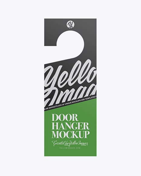 Download Free Door Hanger Mockup PSD Template