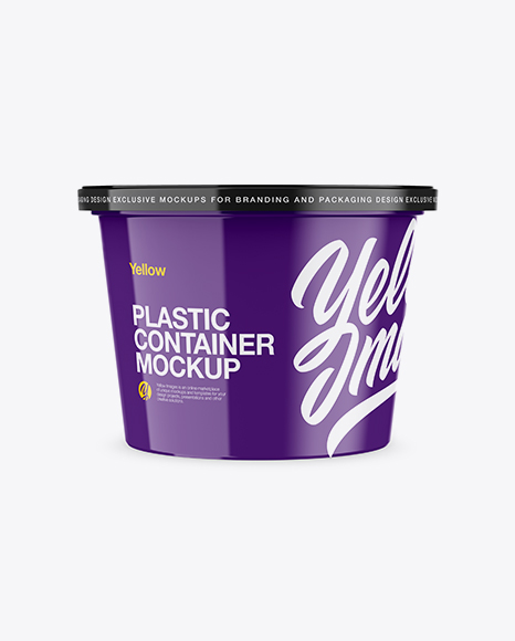 Download Free Glossy Plastic Container Mockup - Front View PSD Template