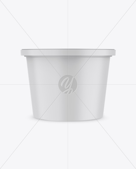 Matte Plastic Container Mockup - Front View