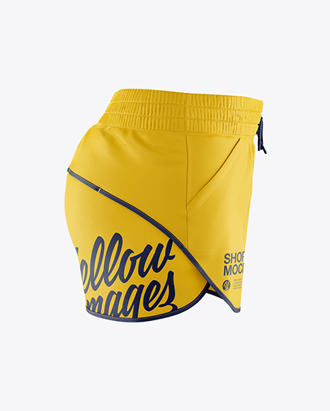 Fitness Shorts Mockup - Side View