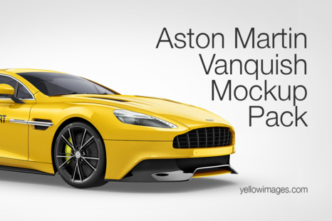 Aston Martin Vanquish Mockup Pack In Handpicked Sets Of Vehicles On Yellow Images Creative Store