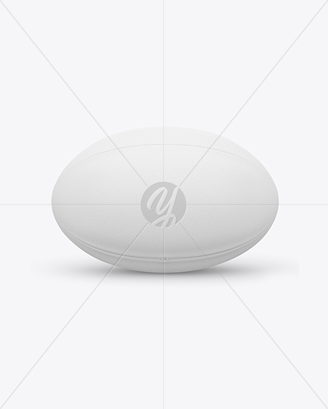 Rugby Ball Mockup - Front View