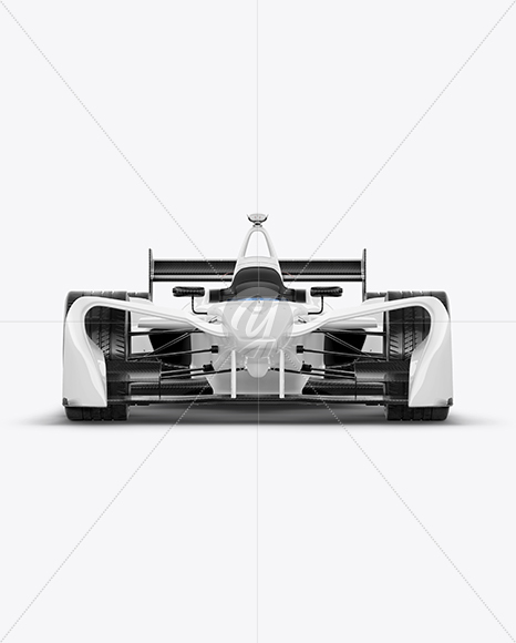 Formula E Racing Car 2016 Mockup Front View In Vehicle Mockups On Yellow Images Object Mockups