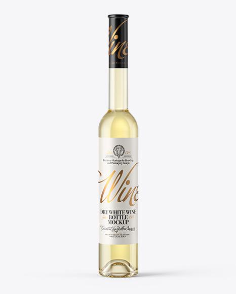 Download Clear Glass White Wine Bottle Mockup Object Mockups