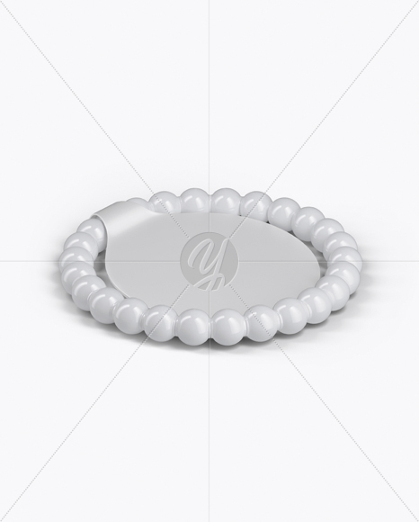 Glossy Bracelet With Paper Label Mockup