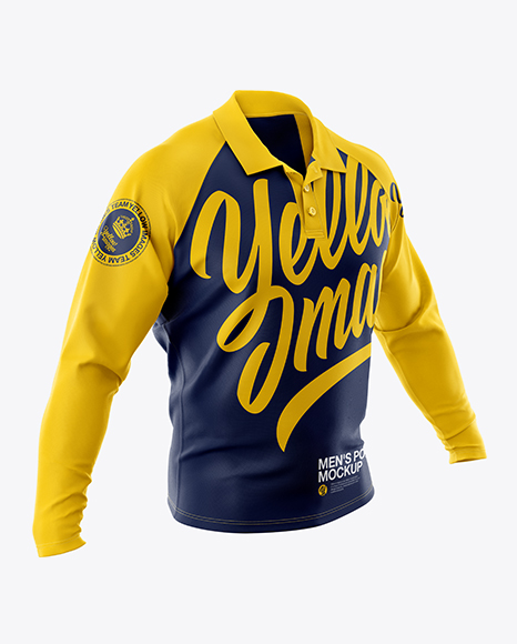 Download Mens Polo Mockup Side View Yellowimages