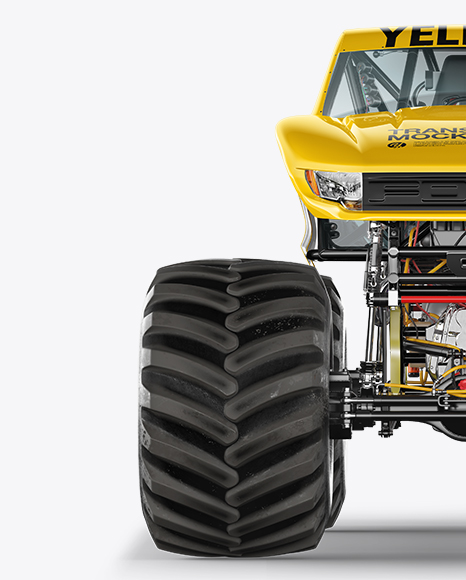 Download Monster Truck Mockup - Front View Object Mockups
