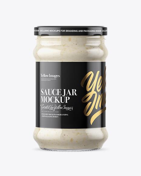 Download Clear Glass Jar with Horseradish Mockup Object Mockups