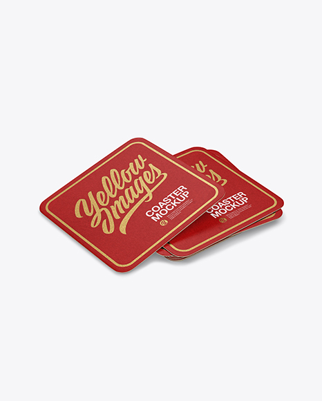 Download Stack of Paper Beverage Coasters Mockup Object Mockups