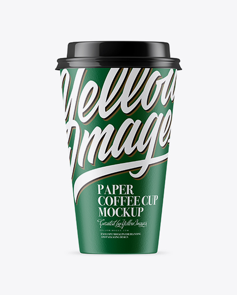 Download Free Middle Paper Coffee Cup Mockup PSD Template