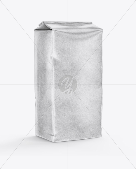 Kraft Flour Bag Mockup - Half Side View
