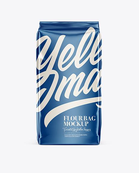 Download Matte Flour Bag Mockup - Front & Side View Object Mockups