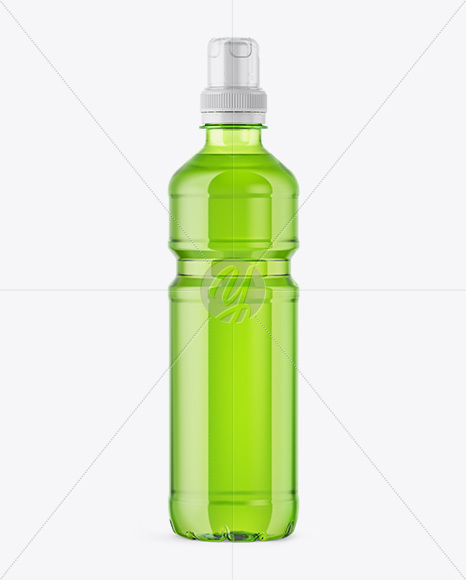 Download Green Plastic Bottle With Sport Cap Mockup In Packaging Mockups On Yellow Images Object Mockups PSD Mockup Templates