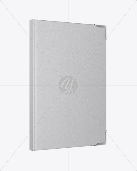 Download Book W Leather Cover Mockup Half Side View In Stationery Mockups On Yellow Images Object Mockups PSD Mockup Templates