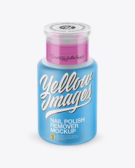 Download Nail Polish Remover Bottle Mockup - Front View (High Angle Shot) Object Mockups