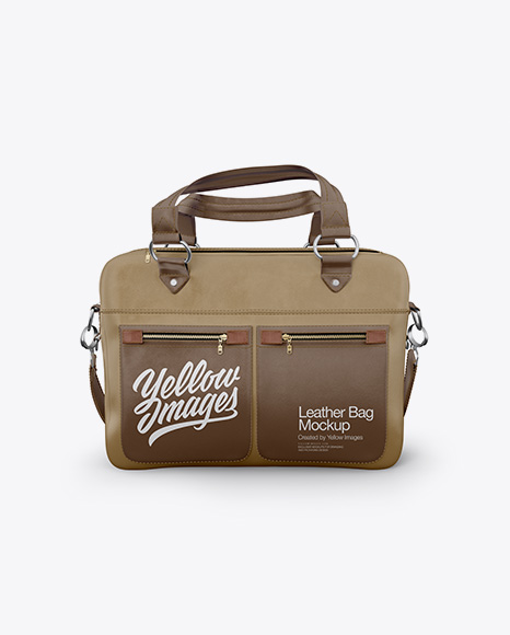 Download Leather Bag Mockup - Front View Object Mockups