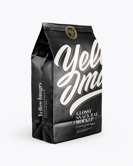 Download Matte Snack Bag With Label Mockup Half Side View PSD - Free PSD Mockup Templates