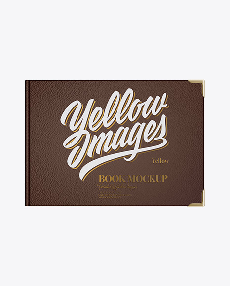 Download Book W Leather Cover Mockup Top View In Stationery Mockups On Yellow Images Object Mockups Yellowimages Mockups