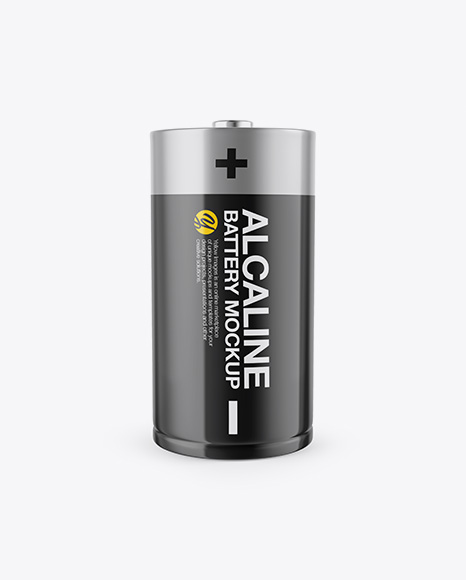 Download Free D Battery Mockup - Front View PSD Template