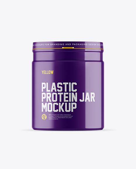 Download Glossy Protein Jar Mockup Object Mockups