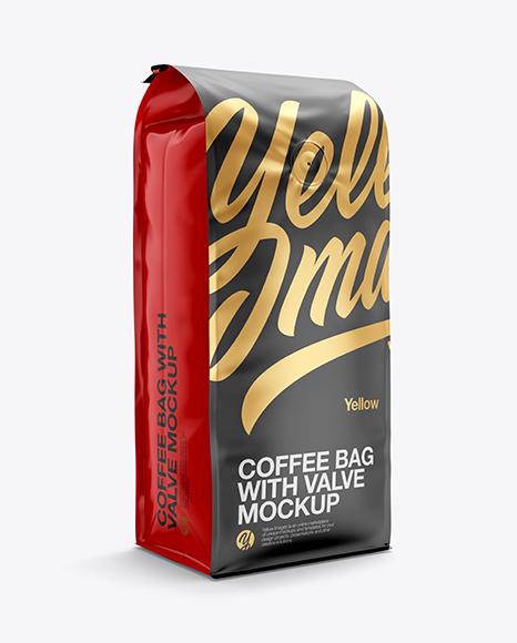 Download 16oz Matte Coffee Bag Mockup - Half Side View Object Mockups